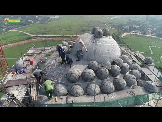 Thi công tạo Tóc Đại Tượng Phật A Di Đà Vì Hòa Bình Thế Giới Chùa Khai Nguyên