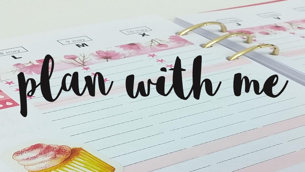 Decoración de agenda | Plan with me | Week 19/2017