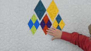 Quilting Tips & Techniques 259 - How to cut and make a 4-patch  60 degree diamond shape.