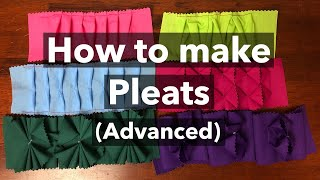 How To Make Pleats - Advanced (Tutorial) / Easy Fabric Manipulation Techniques To Make Pleated Trim