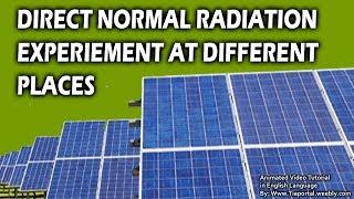 7- Solar Radiation Data | Basics of Solar Energy