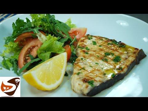 Pesce spada arrostito: alla griglia, alla piastra, in padella - secondi di pesce (Grilled Swordfish)