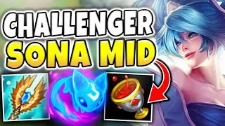 A 16 YEAR OLD GIRL GETS CHALLENGER ABUSING SONA MID? HOW IS THIS EVEN POSSIBLE?! - League of Legends