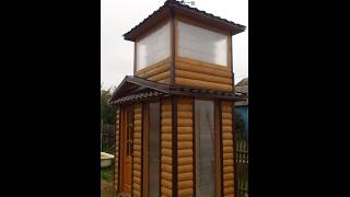 Использование куба - моя идея и моё же воплощение - ванная комната на даче