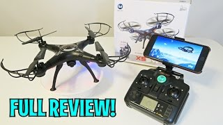 Unboxing & Let's Play - X5SW-1 DRONE! - Quadcopter FPV RC W/ Real Time Camera - FULL REVIEW!