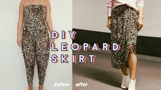 Thrift Transformation: DIY Leopard Skirt