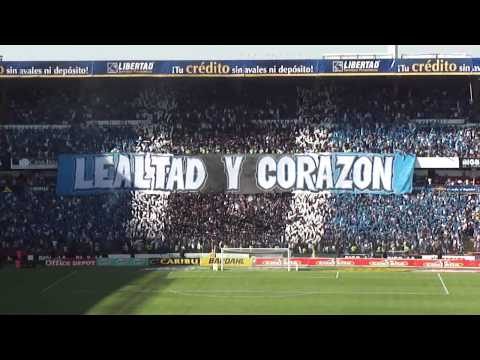 """""""Barra Resistencia Albiazul Lealtad y Corazon  Gallos Blancos de Querétaro."""" Barra: La Resistencia Albiazul • Club: Querétaro"""