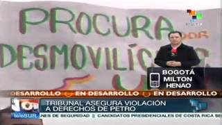 preview picture of video 'Se espera rueda de prensa de Petro tras fallo de Tribunal'
