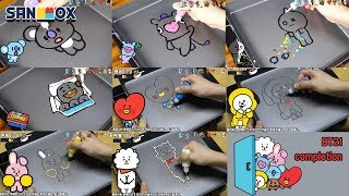 BTS (방탄소년단) Character BT21 Shooky, Mang, Koya, Van, Tata, Chimmy, RJ, Cooky edible Pancake art