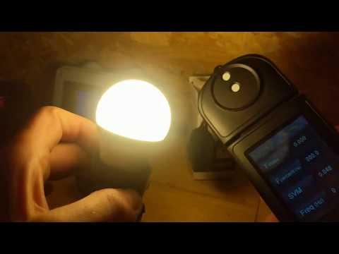 Экспресс-тест лампы Gauss 53218 LED Elementary Шар 8W E27 520lm 3000K 1/10/50
