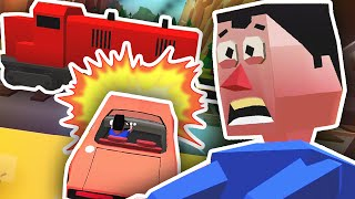 DRIVING INTO A TRAIN!! | Faily Brakes