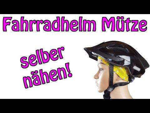 Fahrradhelm Mütze mit flacher Naht - Nähen für Anfänger