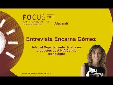 Encarna Gómez, jefa dpto nuevos productos AINIA en Focus Pyme Alacantí[;;;][;;;]