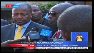 Political leaders receive the body of the late Gachagua at the Lee Funeral Home