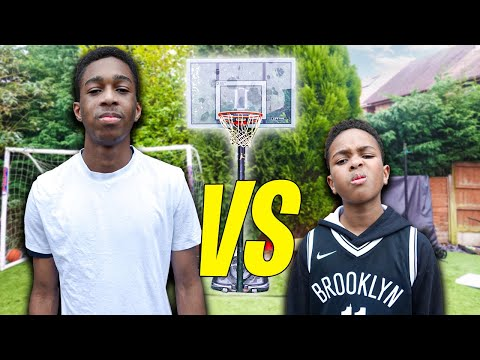 16 Year Old vs 11 Year Old Basketball 1v1