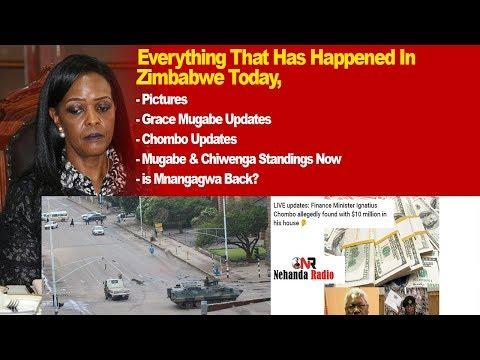 Everything That Has Happened in Zimbabwe Today, Grace Mugabe Updates, Chombo, Chiwenga, Mnangagwa