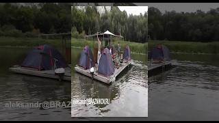 Особенности национальной рыбалки - Сплав по Дону на плотах 2014 Часть 2 из 2