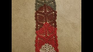 The Pineapple Lace Scarf Crochet Tutorial! (part 1)