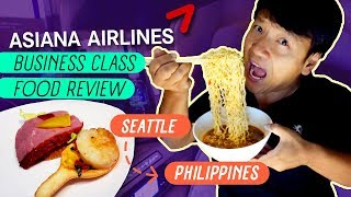 SPICY Chick-fil-A & Asiana Airlines Business Class FOOD REVIEW Seattle to Manila Philippines