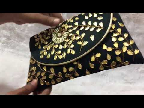 Handcrafted Gota Patti Clutch