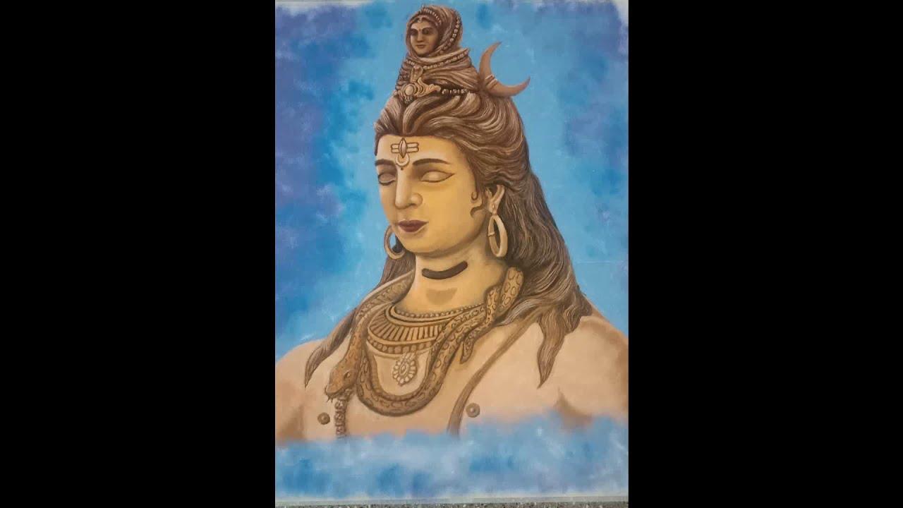 portrait rangoli of lord shiva by narayana rao