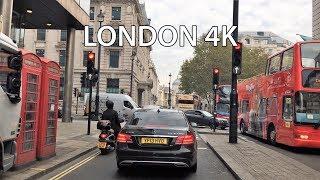 London 4K - Monday Morning - Driving Downtown UK