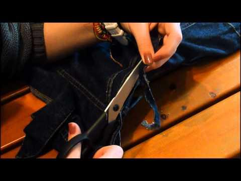 [DIY] Jeansjacke zur Jeansweste + Fransen Shirt :)