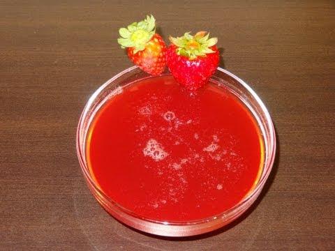 Receta de almíbar de fresa casero   Almíbar para tartas   Almíbar de azúcar