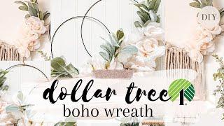 DOLLAR TREE DIY | Spring Wreath | Spring DIY