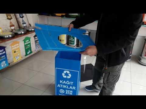 Sıfır Atık Projesi Kağıt Atık Kutusu Montajı