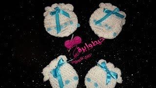 كروشية جوانتى بيبى حديث الولادة | خيط وإبرة | crochet baby mittens