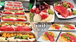 Fruit Salad Making Hotel Restaurant Catering Style