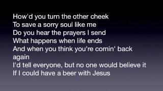 Beer With Jesus Thomas Rhett With Lyrics On Screen