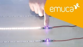 How to install LED lighting strips with sensors
