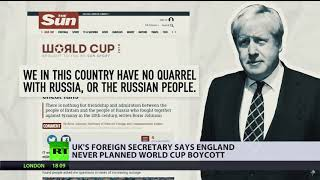 Hypocrisy or 'memory trouble'? BoJo changes stance on World Cup in Russia
