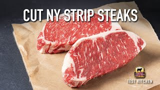 How to Cut New York Strip Steaks