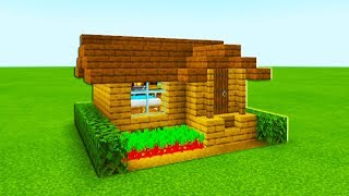 Minecraft Tutorial: How To Make The Easiest Wooden House Ever Made