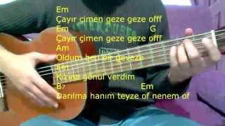 Gitar Dersi - Çayır Çimen Geze Geze