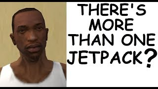 All of the locations of the Jetpack in GTA San Andreas