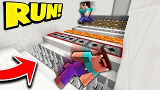 MINECRAFT NOOBS vs DEADLY TRAPS! (MINECRAFT 1.12 DEATH ESCAPE!)