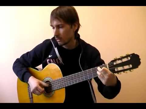 """""""Разлука"""" (Гардемарины вперед) соло кавер на гитаре В.Трощинков   уроки гитары Киев и Скайп"""