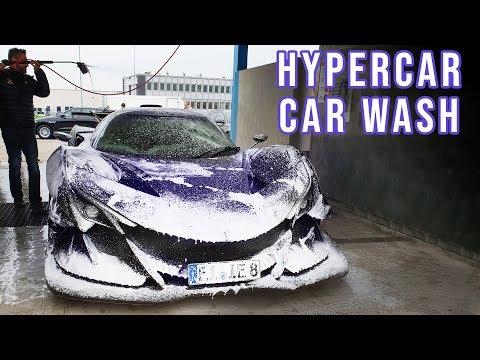 Washing the ultimate hypercar... at a random car wash