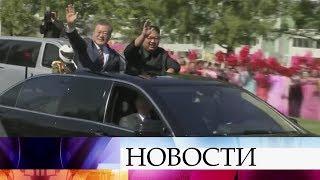 Президент Южной Кореи прилетел в КНДР на встречу с Ким Чен Ыном.
