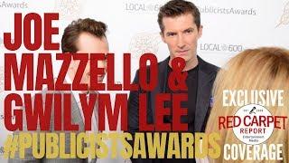 Joe Mazzello & Gwilym Lee #BohemianRhapsody interview at 56th ICG #PublicistsAwards