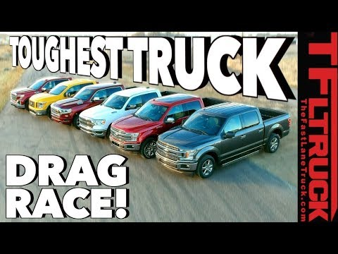 What's the Fastest Half-Ton You Can Buy? World's Toughest Truck Drag Race #1