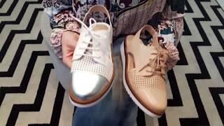 Vídeo Oxford Couro Flatform com Recortes Giulia Domna Branco