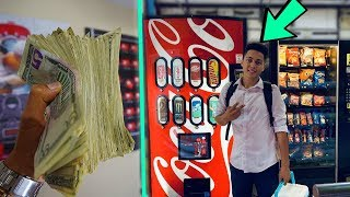 THIS Is How Much MONEY I Collected From 5 VENDING MACHINES!!