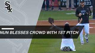 Sister Mary Jo and Jabari Parker toss first pitches - Video Youtube