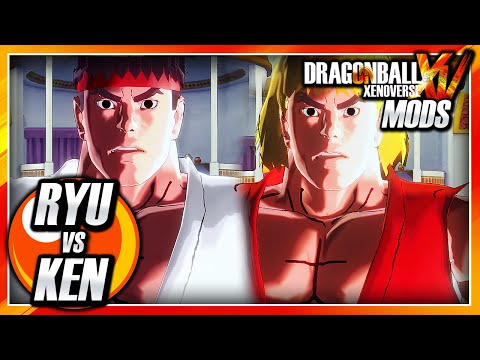 Dragon Ball Xenoverse PC: Ryu Vs Ken Masters Mod Gameplay