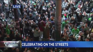 Eagles Fans Take Over The Streets of South Philly !